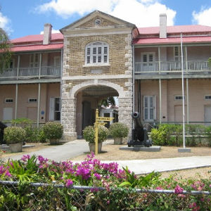 Historic Museum of History Building at the Garisson In Barbados